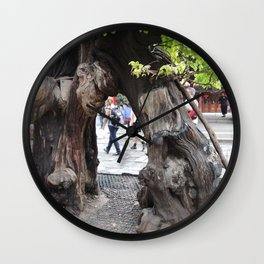 Tree in forbidden city | arbre dans la cité interdite Wall Clock
