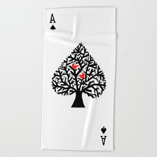 Ace of spade Beach Towel