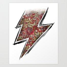 paisley lightning Art Print