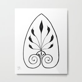 Etruscan inspired ornament Metal Print