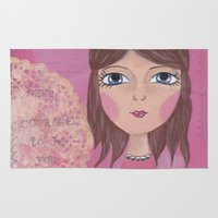 courage Area & Throw Rugs featuring Courage by ArtByBeata