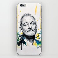 murray iPhone & iPod Skins featuring Bill Murray by Denise Esposito