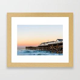 Crystal Pier Dawn Photograph by Priya Ghose Framed Art Print