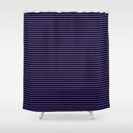 Gothic purple stripes Shower Curtain