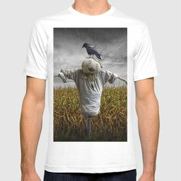 Scarecrow with Black Crows over a Cornfield T-shirt