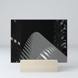 The National September 11 Museum and Memorial in Black and White Mini Art Print