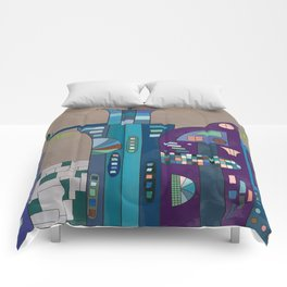 Droid City Comforters