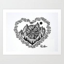 """Heart in the Highlands"" Scotland, Scottish Art, Irish Artwork, Celtic Decor Art Print"