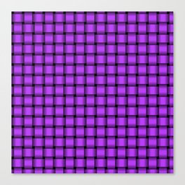 Small Light Violet Weave Canvas Print