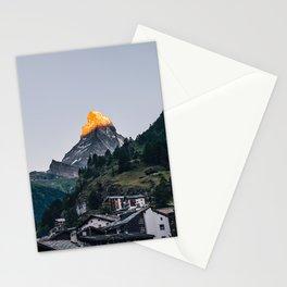 Beautiful Matterhorn in Sunrise Stationery Cards