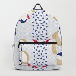 Minimal Muted Tones Organic Shapes Backpack
