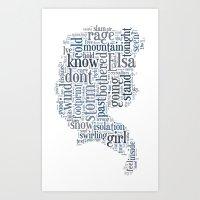 elsa Art Prints featuring Elsa  by MollyW