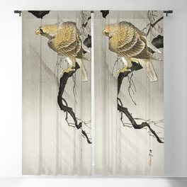 Frog and tadpoles (1900 - 1930) by Ohara Koson (1877-1945) Blackout Curtain