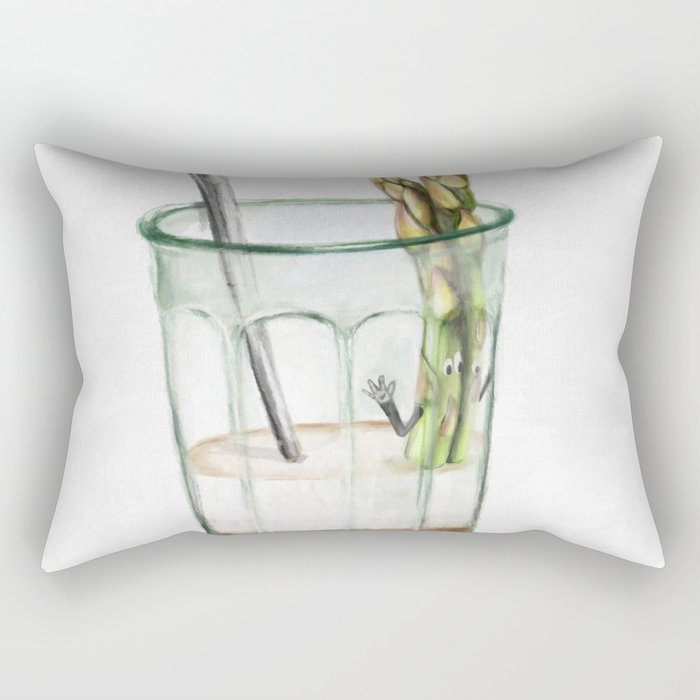 La Cuisine Fusion - Aspargus Latte Rectangular Pillow