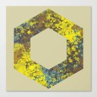 hexagon Canvas Prints featuring Hexagon by Daniel DeVinney
