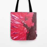 pain Tote Bags featuring Pain by C-ARTon