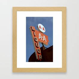 A A Liquor Framed Art Print