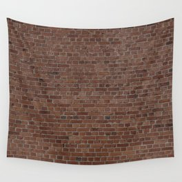 NYC Big Apple Manhattan City Brown Stone Brick Wall Wall Tapestry