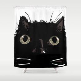 The Black Cat Bijou Shower Curtain