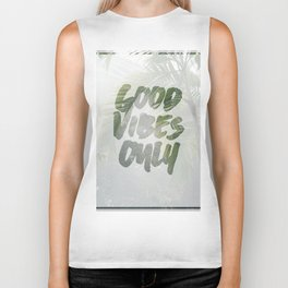 Good Vibes Only Palm Trees Biker Tank