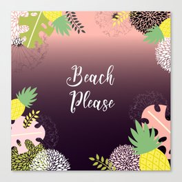 Summer Holiday Beach Please Canvas Print