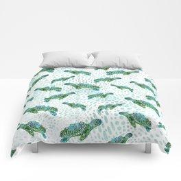 Sea Turtle Squad Comforters