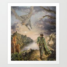 The Walking Wizard Art Print