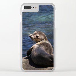 sea lion pup Clear iPhone Case