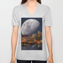Spacey Pittsburgh Unisex V-Neck