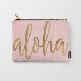 Aloha - pink and gold Carry-All Pouch