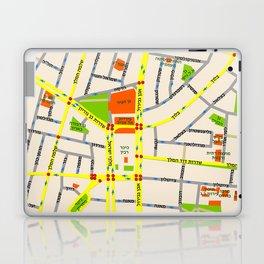 Tel Aviv map design - written in Hebrew Laptop & iPad Skin