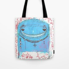 Blue Monster Tote Bag