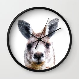 Kangaroo Portrait Wall Clock