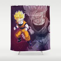 vegeta Shower Curtains featuring Gohan by Neo Crystal Tokyo