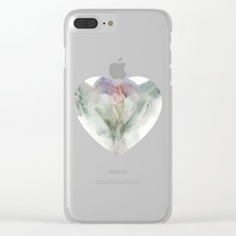 Valentine's Day Vagina Print Clear iPhone Case