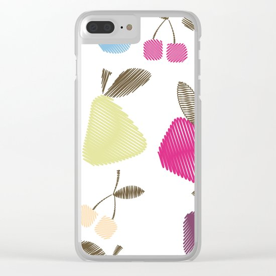 Funny cartoon Fruits Clear iPhone Case