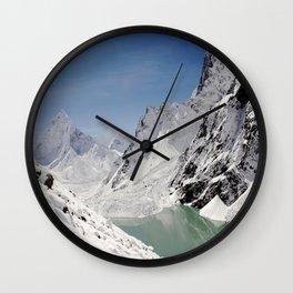 Mountain Paradise Wall Clock