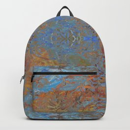 Fall blue geometry Backpack