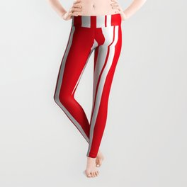 White and red striped . Leggings