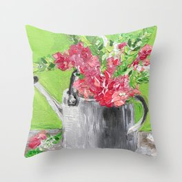 Garden Flowers Throw Pillow