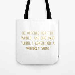 Whiskey Sour Tote Bag