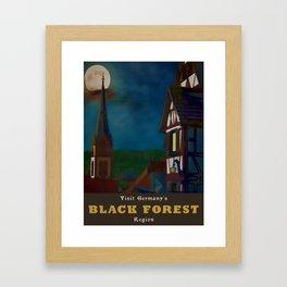 Black Forest Travel Poster Germany Framed Art Print