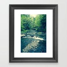 Follow Peaceful Waters Framed Art Print