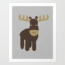 Edward the Moose Art Print