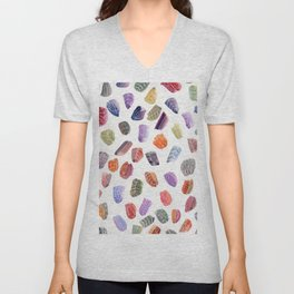 Watercolor Paint Swatch Leaves Unisex V-Neck