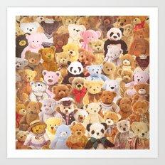 Teddy bears Art Print