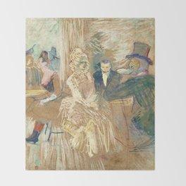 """Henri de Toulouse-Lautrec """"Au Bal masqué de l'Elysée Montmartre"""" Throw Blanket"""