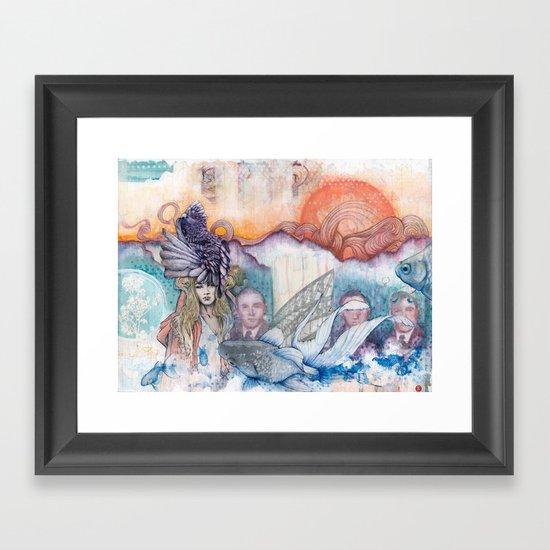 Sunset Gala Framed Art Print