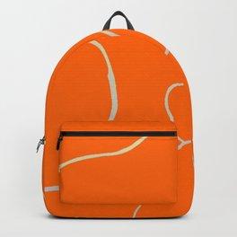 Lined - Orange Backpack