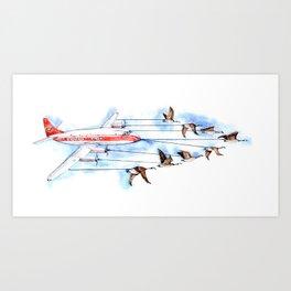 Air Canada Goose Art Print